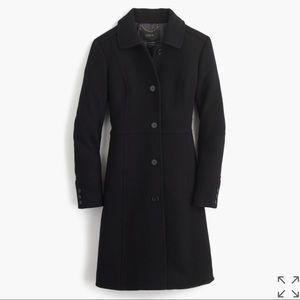 New J.Crew Double-Cloth Wool Lady Day Coat